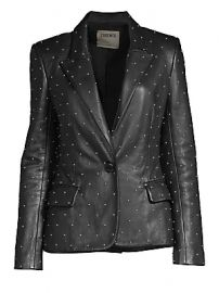 L  039 Agence - Montego Studded Leather Blazer at Saks Fifth Avenue