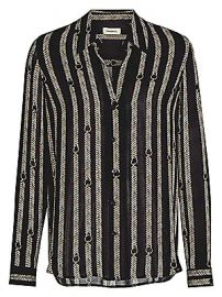 L  039 Agence - Nina Aguillette Printed Silk Blouse at Saks Fifth Avenue