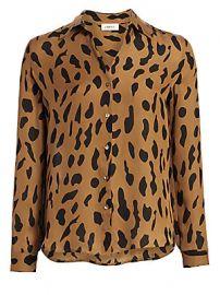 L  039 Agence - Nina Animal-Print Silk Blouse at Saks Fifth Avenue