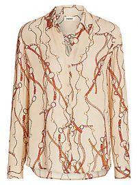 L  039 Agence - Nina Belt Print Silk Blouse at Saks Fifth Avenue