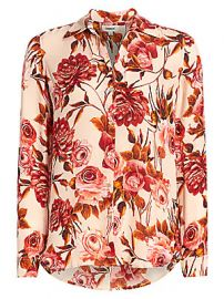 L  039 Agence - Nina Rose Print Silk Blouse at Saks Fifth Avenue