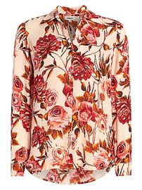 L  039 Agence - Nina Rose Print Silk Blouse at Saks Fifth Avenue