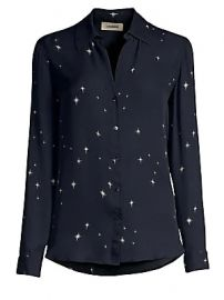 L  039 Agence - Nina Star-Print Blouse at Saks Fifth Avenue