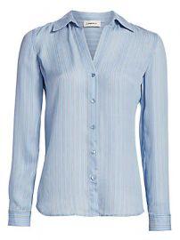 L  039 Agence - Nina Striped Silk Blouse at Saks Fifth Avenue
