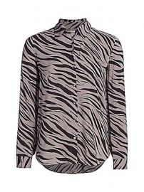 L  039 Agence - Nina Zebra Print Blouse at Saks Fifth Avenue