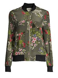 L  039 Agence - Ollie Silk Print Bomber Jacket at Saks Fifth Avenue