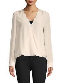 L  039 Agence - Perry Wrap Blouse at Saks Off 5th