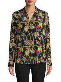 L  039 Agence - Printed Silk Shirt at Saks Off 5th