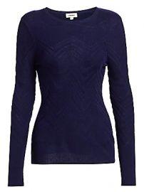 L  039 Agence - Suka Chevron-Knit Sweater at Saks Fifth Avenue