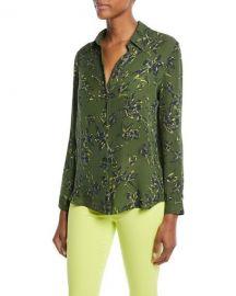 L  39 Agence Nina Floral-Print Silk Blouse   Neiman Marcus at Neiman Marcus