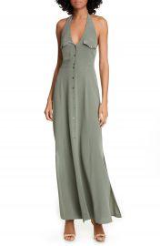L  x27 AGENCE Amina Silk Halter Maxi Dress   Nordstrom at Nordstrom