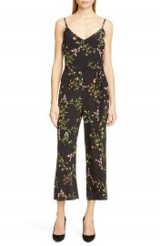 L  x27 AGENCE Jaelyn Floral Print Silk Jumpsuit   Nordstrom at Nordstrom