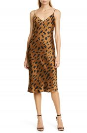 L  x27 AGENCE Jodie Cheetah Print Silk Slipdress   Nordstrom at Nordstrom