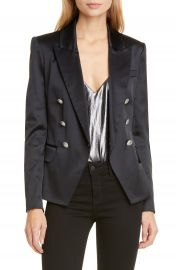 L  x27 AGENCE Kenzie Satin Double Breasted Blazer   Nordstrom at Nordstrom