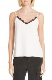 L  x27 AGENCE Lia Lace Trim Silk Camisole   Nordstrom at Nordstrom