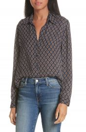 L  x27 AGENCE Nina Print Silk Georgette Blouse at Nordstrom
