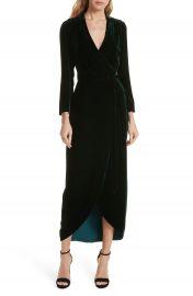 L  x27 AGENCE Reliah Velvet Wrap Dress   Nordstrom at Nordstrom