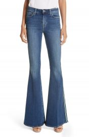 L  x27 AGENCE Solana Side Stripe Flare Jeans  Authentique    Nordstrom at Nordstrom