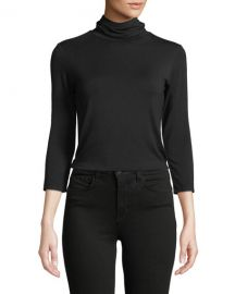 L  x27 Agence Aja 3 4-Sleeve Turtleneck Top at Neiman Marcus