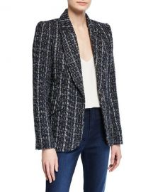 L  x27 Agence Chamberlain Tweed Blazer at Neiman Marcus