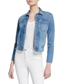 L  x27 Agence Janelle Slim Raw-Edge Jacket at Neiman Marcus