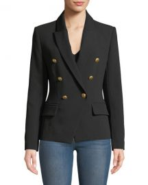 L  x27 Agence Kenzie Double-Breasted Blazer Jacket at Neiman Marcus