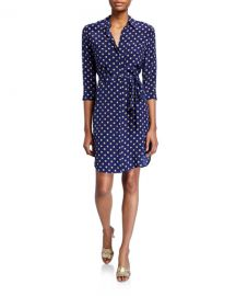 L  x27 Agence Stella-Dotted Shirtdress at Neiman Marcus