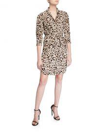 L  x27 Agence Stella Printed Silk Shirt Dress at Neiman Marcus