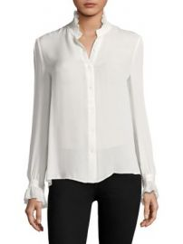 L AGENCE - Carla Victorian Silk Blouse at Saks Fifth Avenue