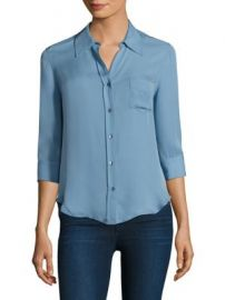 L AGENCE - Ryan Three-Quarter Sleeve Silk Blouse at Saks Fifth Avenue