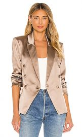 L AGENCE Kenzie Double Breasted Blazer in Hazelwood from Revolve com at Revolve