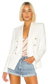L AGENCE Kenzie Double Breasted Blazer in Ivory from Revolve com at Revolve