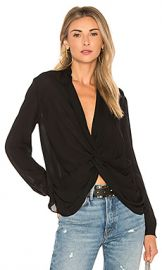 L AGENCE Mariposa Blouse in Black from Revolve com at Revolve