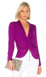 L AGENCE Mariposa Blouse in Bright Plum from Revolve com at Revolve