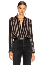 L AGENCE Nina Blouse in Black Anguillette   FWRD at Forward