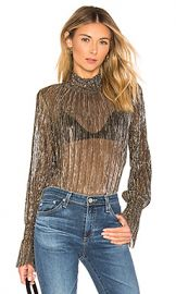L AGENCE Paola Blouse in Gold Metallic from Revolve com at Revolve