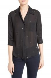 L AGENCE Ryan Star Print Silk Blouse at Nordstrom