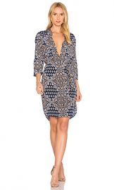 L AGENCE Stella Dress in Navy Multi from Revolve com at Revolve