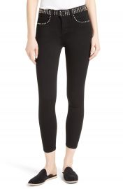 L AGENCE Studded Crop Jeans at Nordstrom