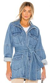 L Academie The Camillei Jacket in Indigo Blue from Revolve com at Revolve