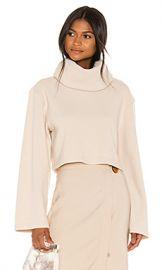 L Academie The Clara Crop Top in Cream from Revolve com at Revolve