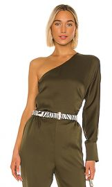 L Academie The Maura Top in Olive Green from Revolve com at Revolve