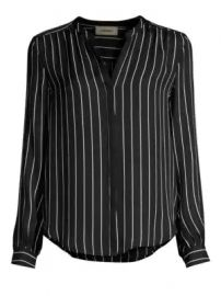 L Agence - Bardot Stripe Silk Shirt at Saks Fifth Avenue