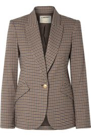 L Agence - Chamberlain houndstooth tweed blazer at Net A Porter