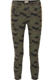 L Agence - Margot cropped camouflage-print high-rise skinny jeans at Net A Porter
