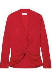 L Agence - Mariposa twisted silk crepe de chine blouse at Net A Porter