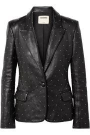 L Agence - Montegoi studded leather blazer at Net A Porter
