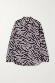 L Agence - Nina zebra-print silk-voile shirt at Net A Porter