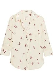 L Agence   Ryan printed washed-silk shirt at Net A Porter