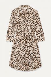 L Agence - Stella belted leopard-print silk mini dress at Net A Porter